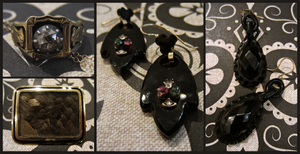 antique mourning jewelries