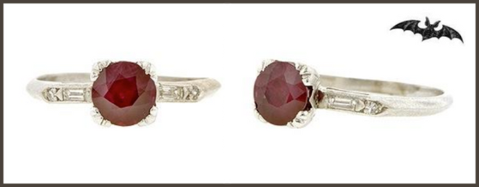 Devilishly Glamorous Ruby and Diamond Engagement Ring of the Week
