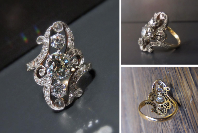 Swirling Elegance: Belle Epoque Engagement Ring of the Week