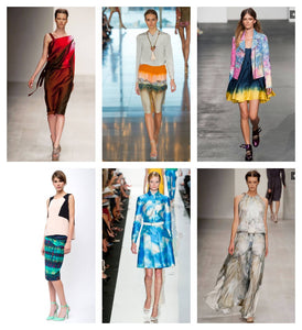 watercolor spring runways