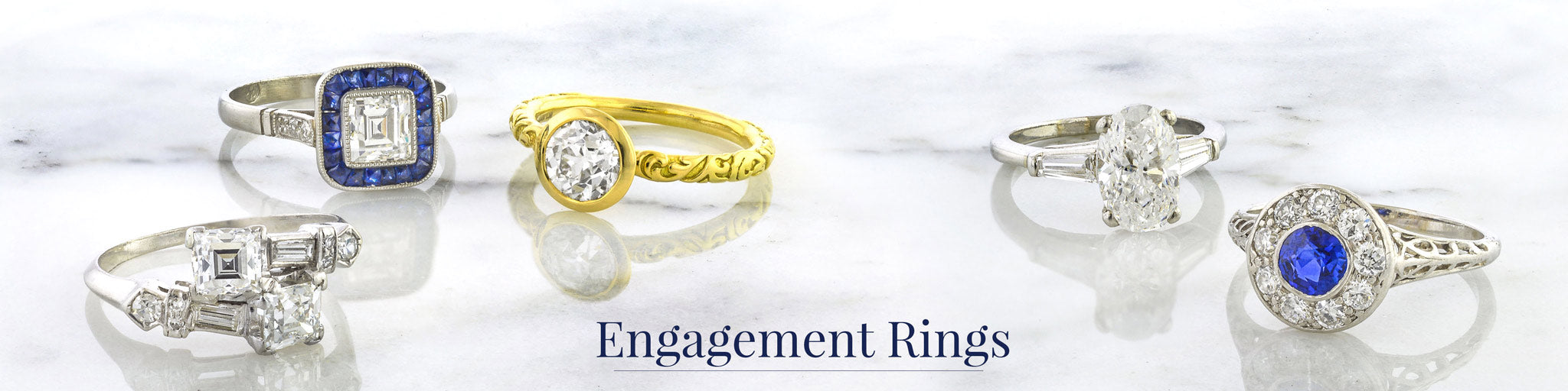fbe28fda2 Antique, Estate, And Vintage Diamond Engagement Rings Also Featuring our  Exclusive In-House Designs
