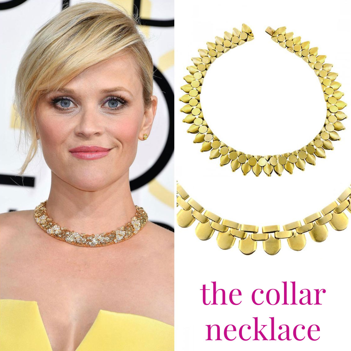 Doyle Doyle gold necklace Golden Globes Reese Witherspoon