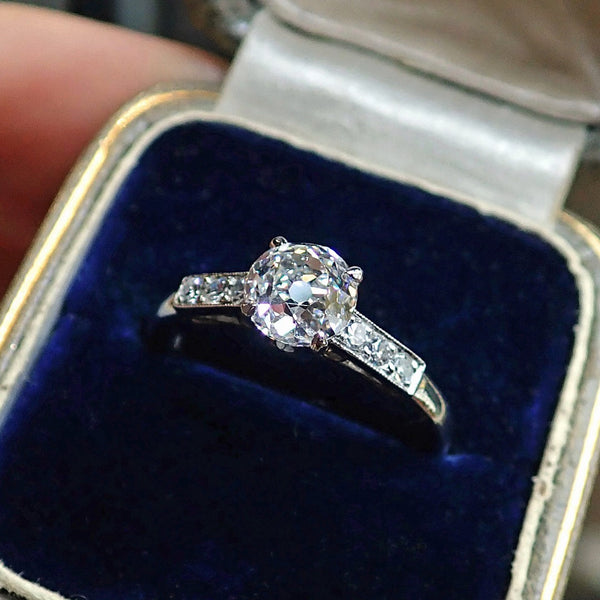 Vintage Diamond Engagement Ring from Doyle & Doyle, Old European Cut 1.13ct 107250R