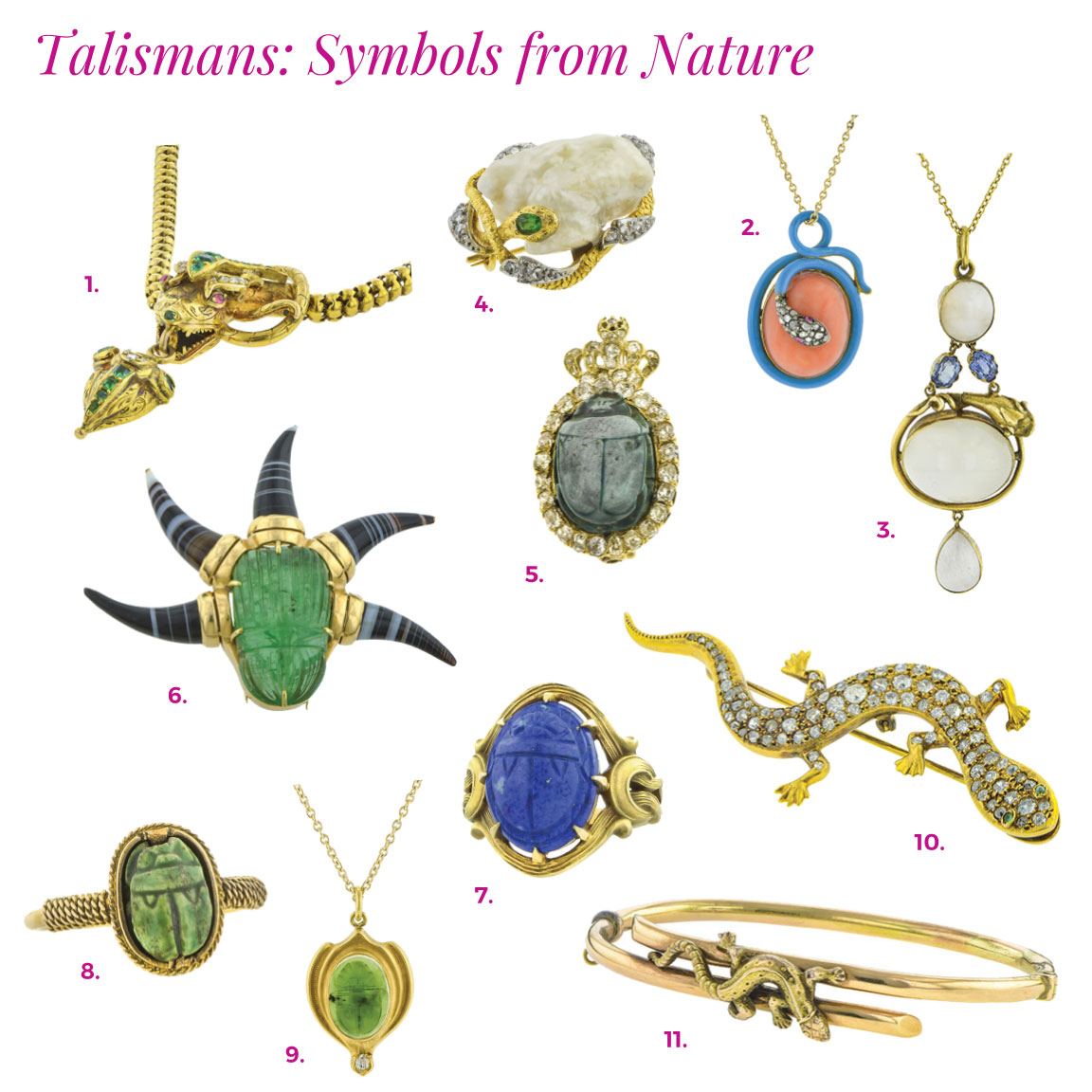 doyle and doyle talismans catalog snake antique scarab jewelry