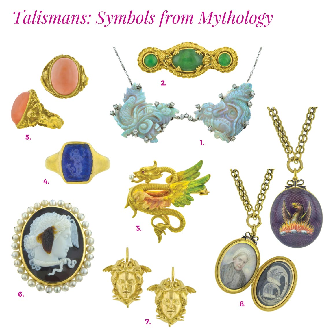 doyle and doyle mythological talismans catalog vintage dragon mermaid jewelry