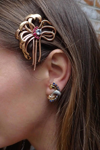 Retro Hair Clip, Earrings | Doyle & Doyle