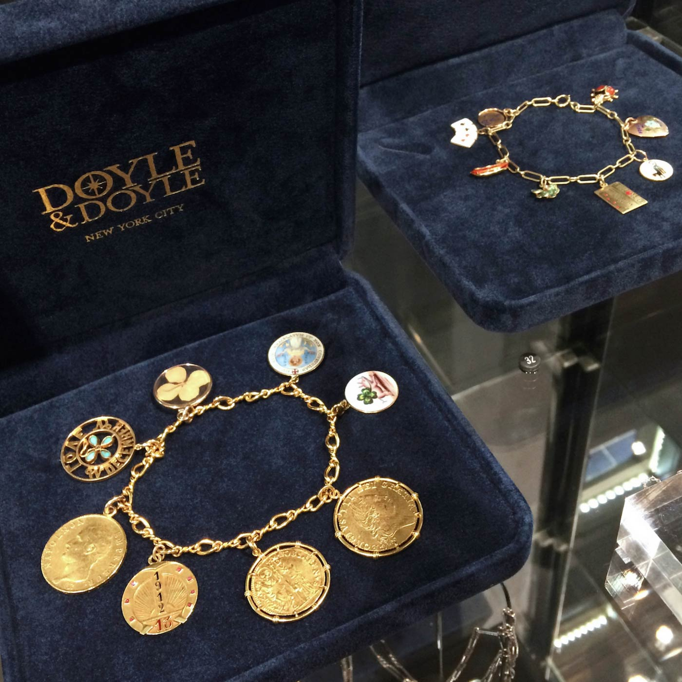 doyle and doyle vintage gold charm bracelets