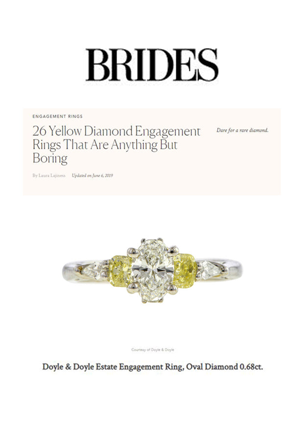 Brides June 2019 Yellow Engagement Ring Doyle & Doyle