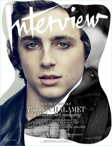 Timothee Chalamet on the cover of Interview magazine