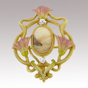 art Nouveau Krementz pin from Doyle & Doyle