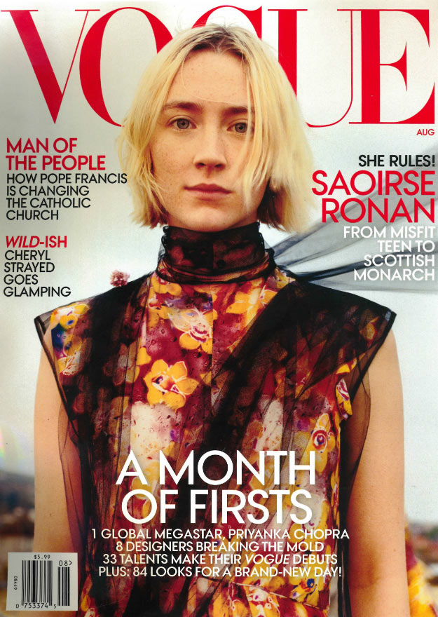 vogue august 2018 saoirse ronan