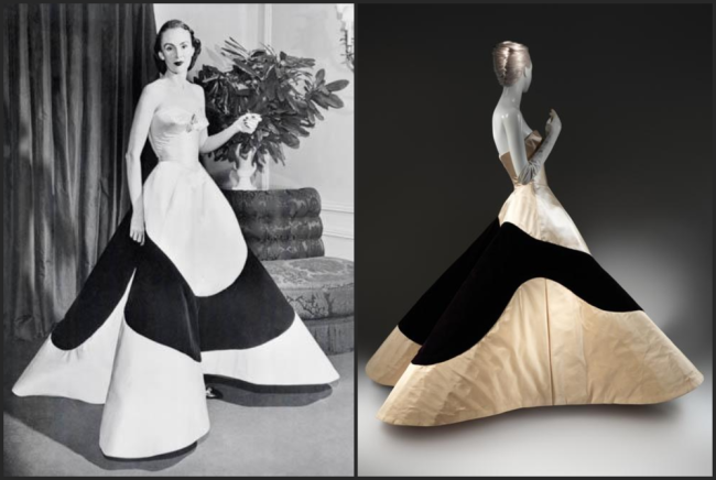 Charles James clover gown