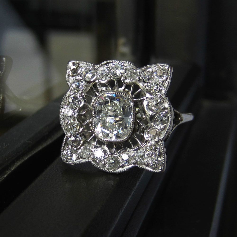 edwardian frame engagement ring