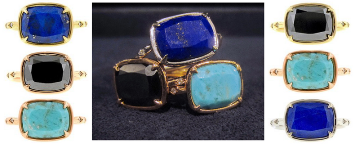 cushion heirloom rings by Doyle and Doyle