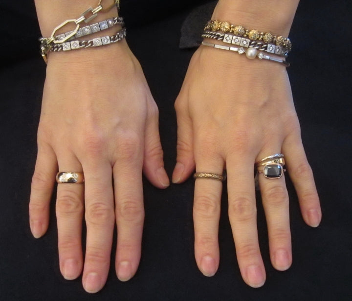 doyle and doyle heirloom diamond bracelets and vintage wedding bands