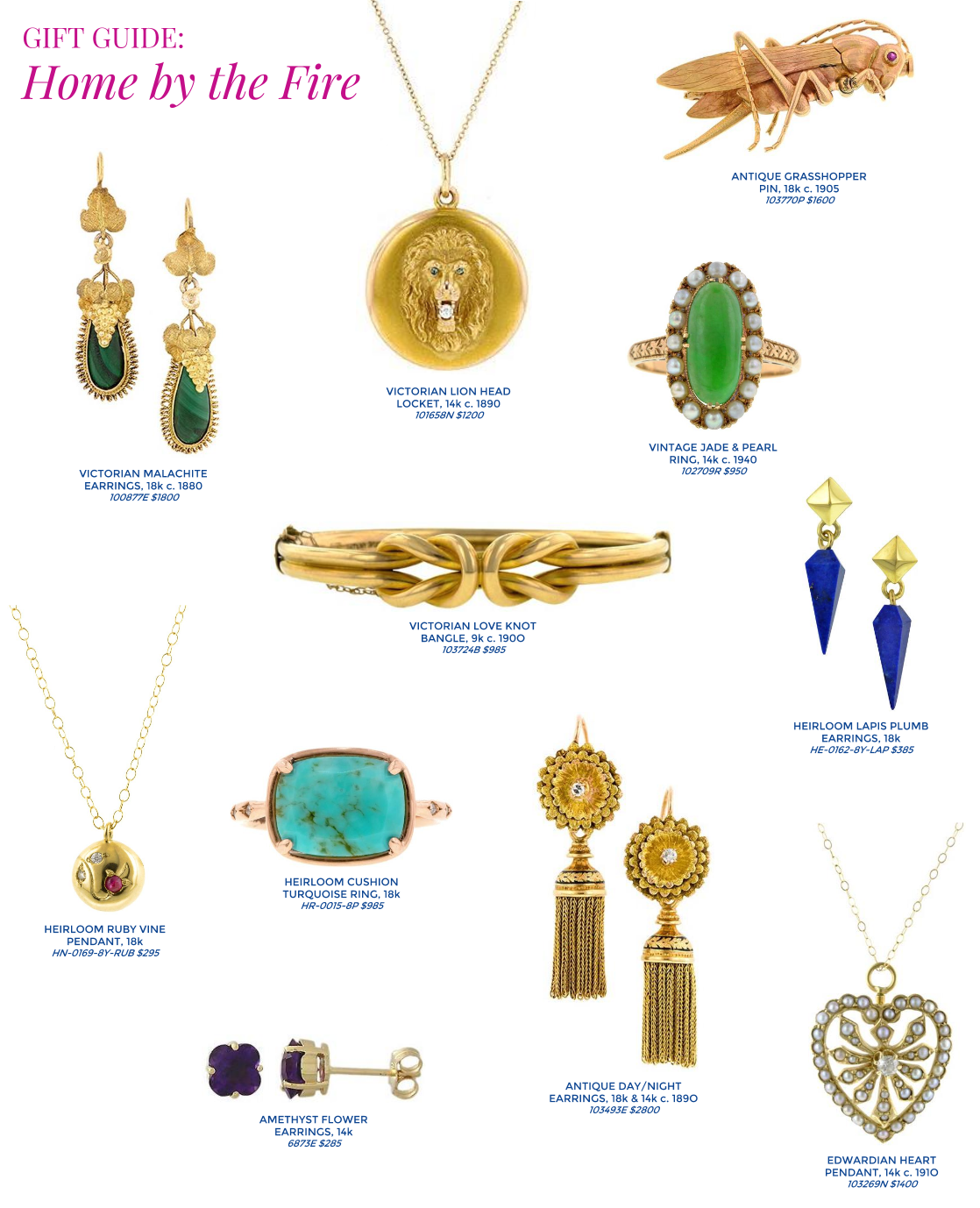 Doyle & Doyle antique and vintage jewelry gift guide