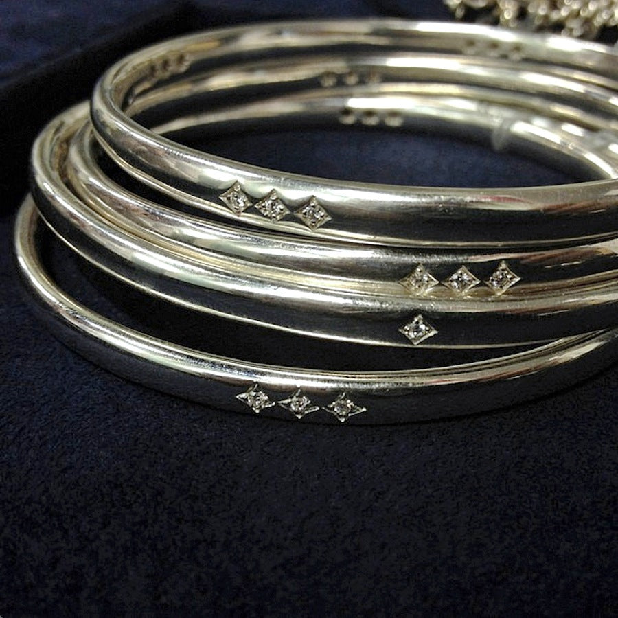 Heirloom collection silver bangle bracelets