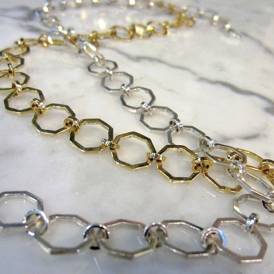 Heirloom collection octagon link necklaces