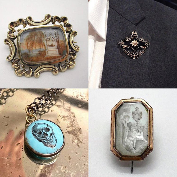 Mourning Jewelry and Memento Mori from Doyle & Doyle, Sarah Nehama, and Hannah Blount