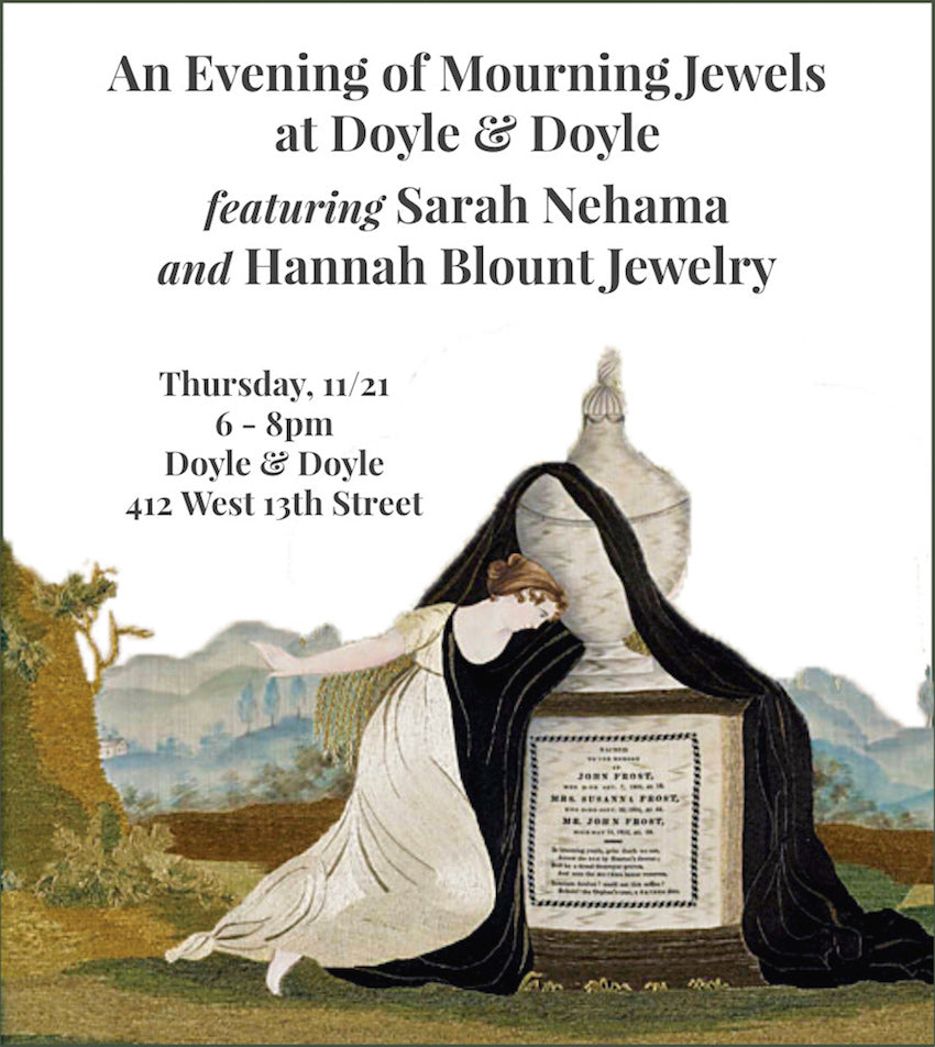 Mourning Jewelry Event New York City Jewelry Week