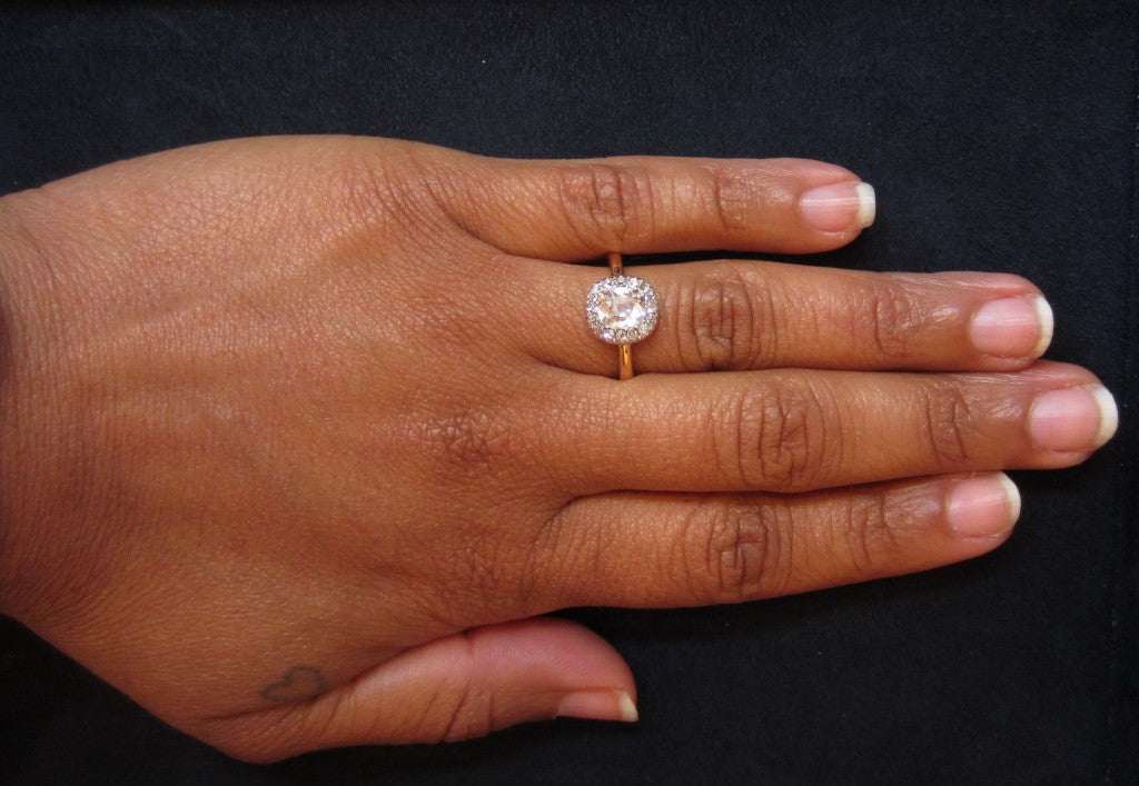 Georgian Diamond Engagement Ring on hand from Doyle & Doyle