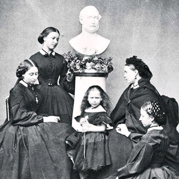 Queen Victoria's Royal Family in Mourning for Prince Albert
