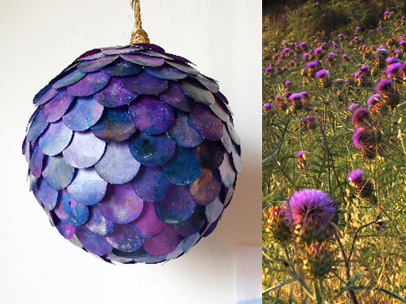 thistle like pendant lamps