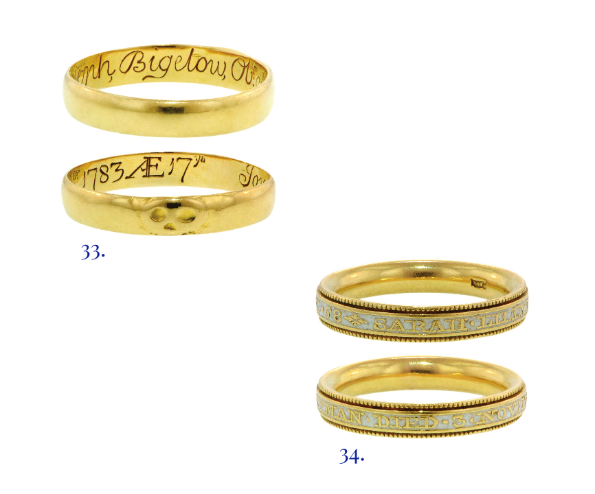 sentimental rings, memento mori rings