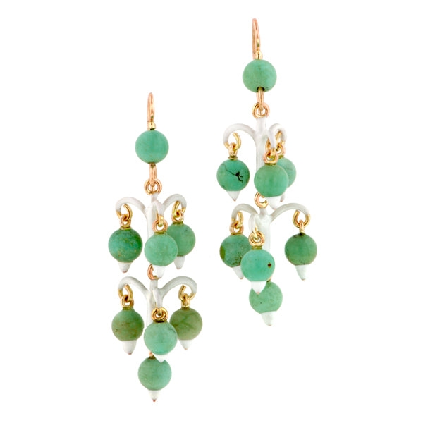 Turquoise & Enamel Earrings