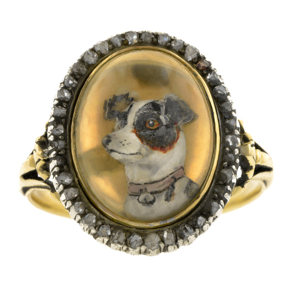Victorian Essex Crystal Dog Ring
