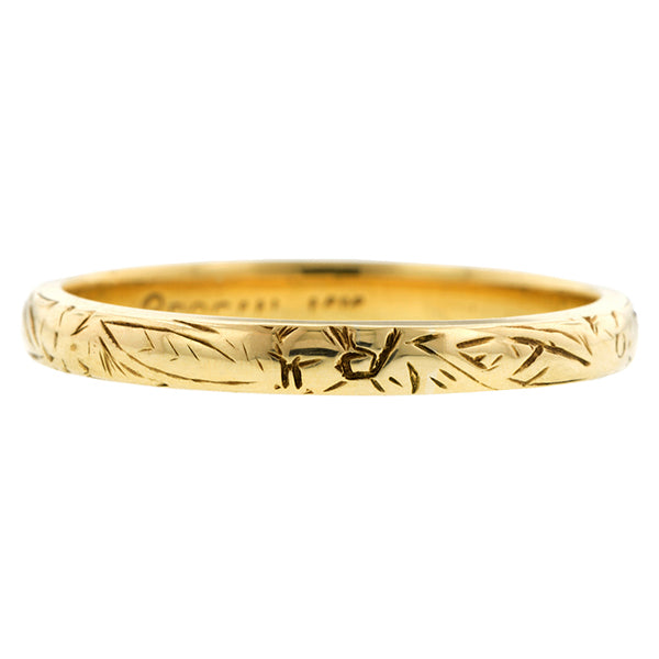 Vintage Patterned Wedding Band