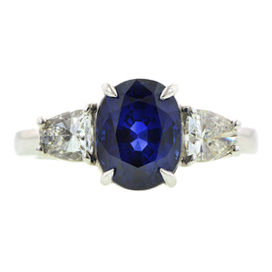 Estate Sapphire & Diamond Ring : Doyle & Doyle