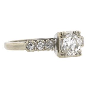 Vintage Diamond Engagement Ring, RBC 0.60ct:: Doyle & Doyle