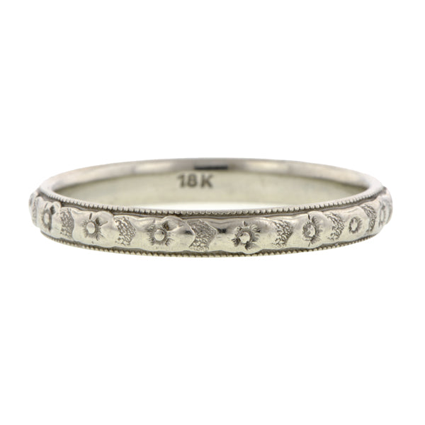 Art Deco Patterned Wedding Band::Doyle & Doyle