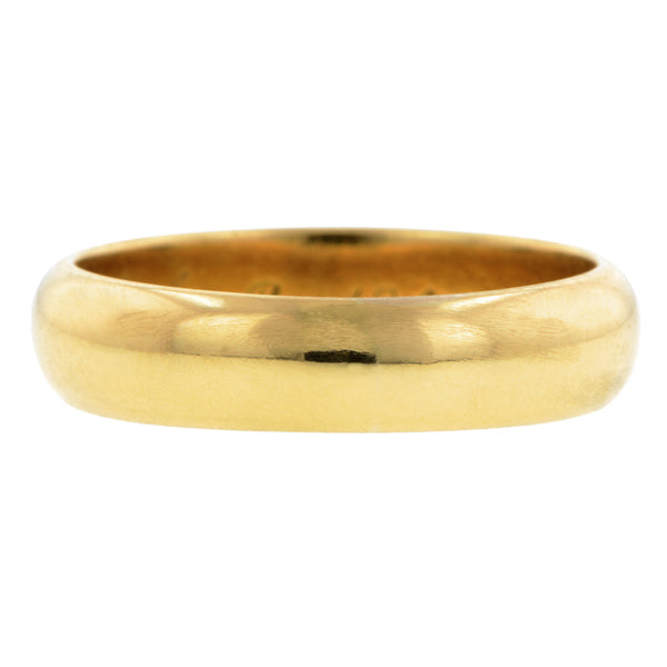 "Antique Gold Wedding Band Ring, ""1862"", Size 5.75"