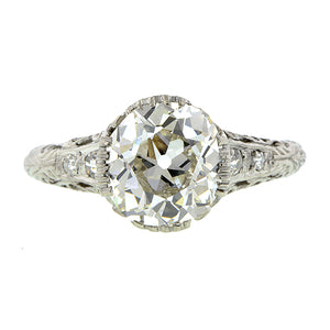 Edwardian Diamond Engagement Ring, Old Mine 2.64ct