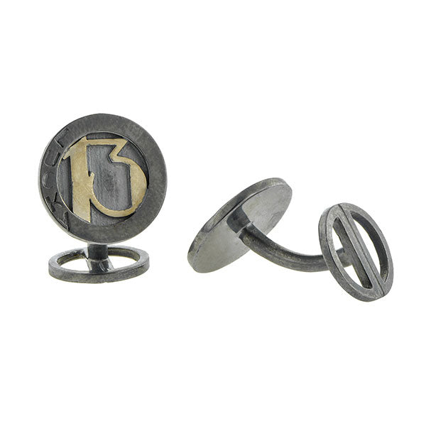 Lucky 13 Cufflink- West 13th Collection:: Doyle & Doyle