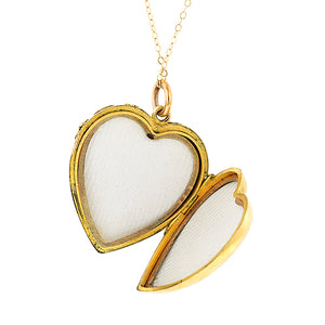 Antique Opal Heart Locket:: Doyle & Doyle