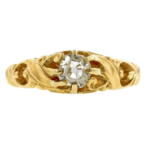 Art Nouveau Diamond Ring, Old Mine 0.48ct:: Doyle & Doyle