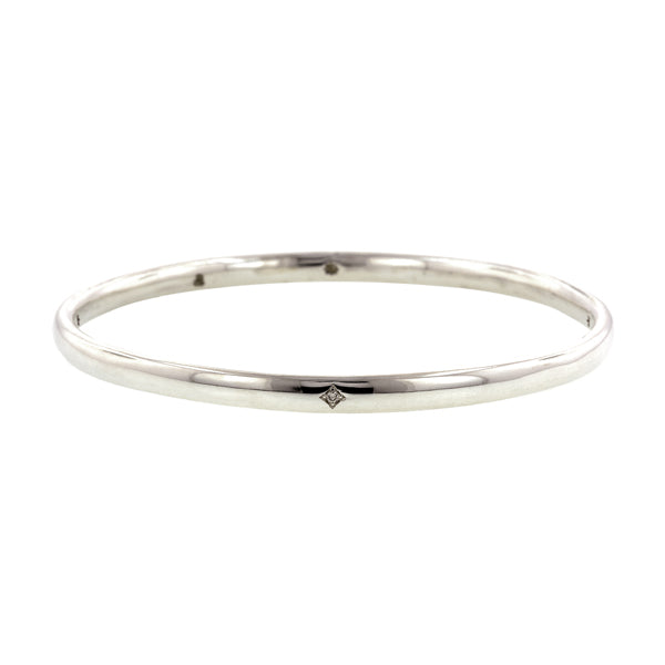 Single Station Diamond Bangle Bracelet- Heirloom by Doyle & Doyle
