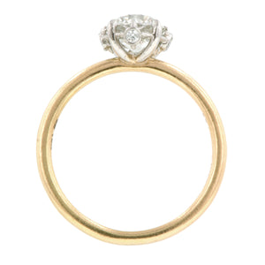 North Star Engagement Ring, Old Euro 1.03ct