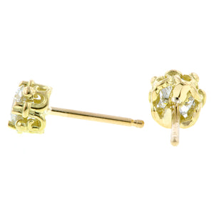 Fancy Basket .50ctw Diamond Stud Earrings- Heirloom by Doyle & Doyle