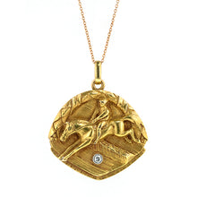 Vintage Diamond Equestrian Locket