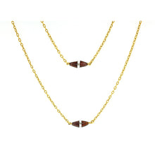 Antique Garnet & Crystal Long Chain Necklace
