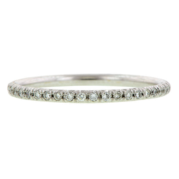Round Brilliant Diamond Set White Gold Wire Ring sold by Doyle & Doyle vintage and antique jewelry boutique