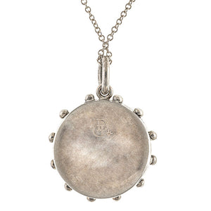 Contemporary necklace: a Sterling Silver Heirloom Compass Charm sold by Doyle & Doyle vintage and antique jewelry boutique.