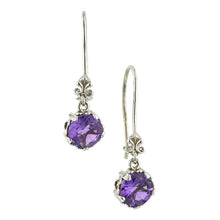 Fancy Basket Amethyst Drop Earrings 18kw- Heirloom by Doyle and Doyle