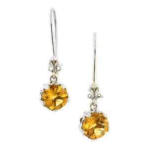 Fancy Basket Citrine Drop Earrings 18kw- Heirloom by Doyle and Doyle