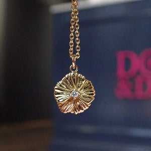 Diamond Pansy Necklace from Heirloom by Doyle & Doyle 092923N