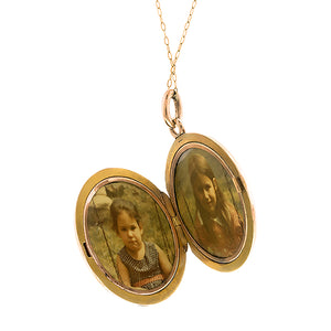 Victorian Diamond Ivy Locket:: Doyle & Doyle